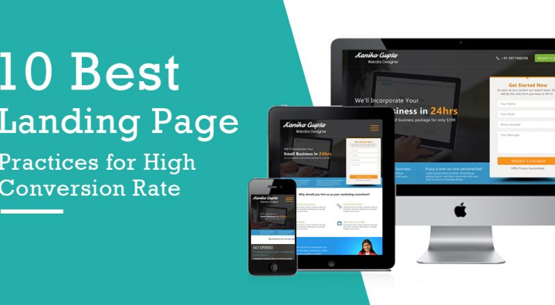 professional landing page design