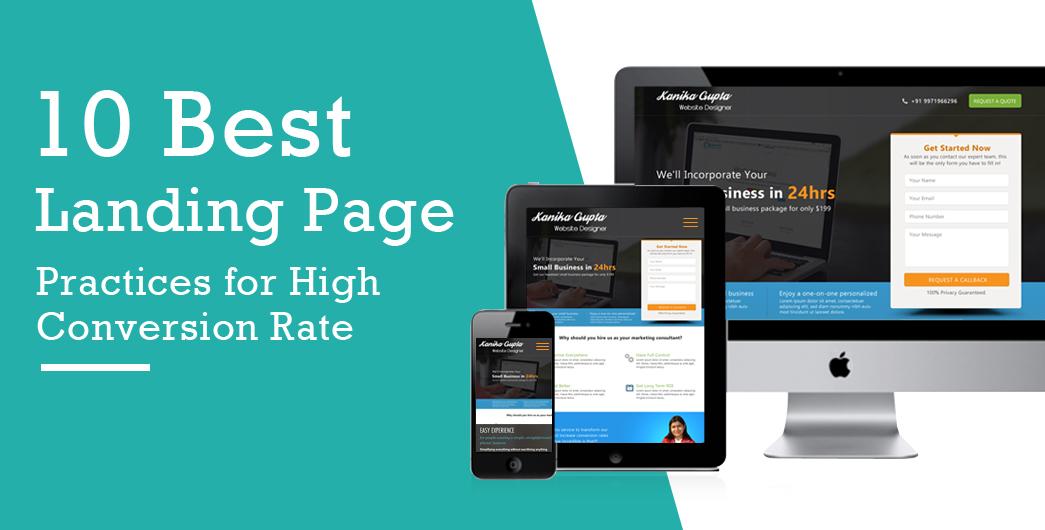 professional landing page design